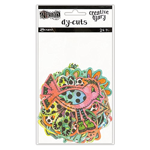 Ranger Colored Birds & Flowers Dyan Reaveley's Dylusions Creative Dyary Die Cuts (Colored Bird)