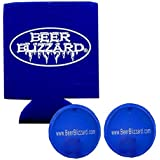 Beer Blizzard - Ice Cube For Your Can - As Seen On Shark Tank (2 Cubes - 1 Koozie)