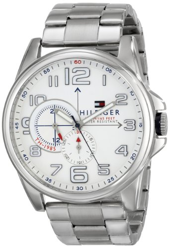 Tommy Hilfiger Men's 1791006 Analog Display Quartz Silver Watch