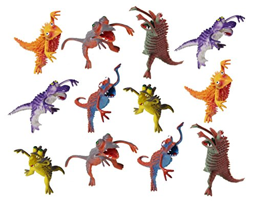 Set of 12 Monster Pencil Holders - Figurines Small Novelty Toy Prize Assortment for Birthday Party Gifts