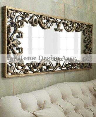 Large bathroom s mirrors choice of ornate driftwood and for Large long wall mirrors