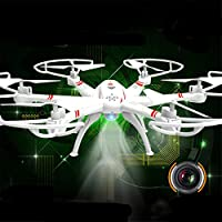 BININBOX FPV 2.4Ghz 6 Axis Gyro RC Headless Quadcopter Drone With 30W HD Wifi Camera Training LED Flash Light