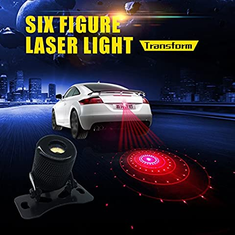 Car Laser Fog Lamp - Universal Auto Rear-end Alarm LED Tail Light for Cars and Motorcycles Brake Parking Anti-Collision Safety Warning Lights - Cars Brakes