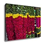 Ashley Canvas, Garlands For Sale Hanging At A Market Stall Chennai Tamil Nadu India, Kitchen Bedroom Dining Living Room Art, 24x30, AG5935750