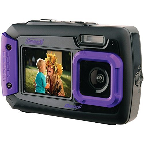 COLEMAN 2V9WP-P 20.0-Megapixel Duo2 Dual-Screen Waterproof D