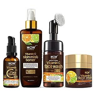 WOW Skin Science Ultimate Vitamin C Skin Care Kit – consists Vitamin C Face Wash brush, Mist Toner, Face Serum, Face…