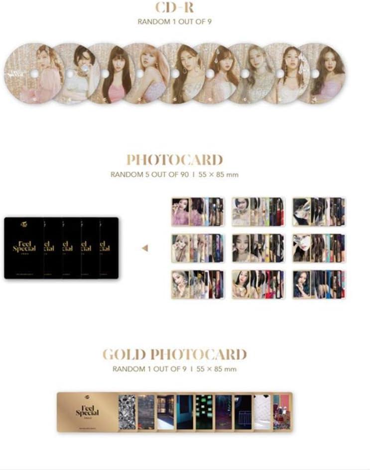 A Ver Incl. Pre-Order Benefits, One Random Arcylic Photocard Twice 8th Mini Album Feel Special lightstick Keyring Set
