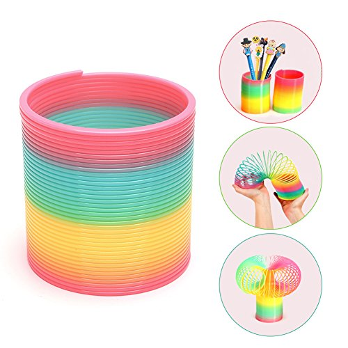 POPLAY Beautiful Rainbow Magic Spring Slinky Assorted Spring Slinky Toy -