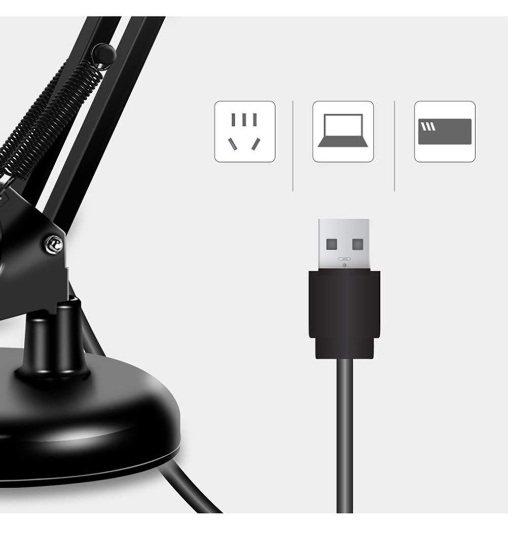 PANGU-ZC Schreibtischlampe Schlafsaal Plug-in Plug-in Plug-in Learningtable Lampe LED Schlafzimmer Nachtclip Energie lösen A ++ Leselampe (Farbe   SCHWARZ, Form   Three Farbe Switch) bc7b58