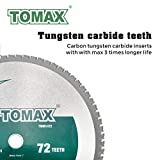TOMAX 14 Inch 72 Tooth Industrial Level Steel and