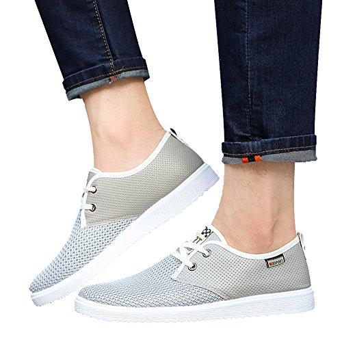 Miskely Herren Sommer Breathable Freizeitschuhe Fashion Outdoor Sports Laufschuhe Freizeit Mesh Schuhe Grau