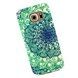 Cuitan Durable TPU Soft Case Cover for Samsung Galaxy S6 Edge G9250, Premium Quality Anti-scratch Back Cover Protective Case Cover Shell Sleeve for Samsung Galaxy S6 Edge G9250 - Blue Leaves