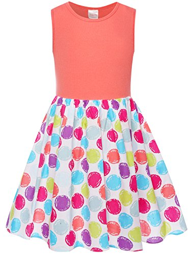 Bonny Billy Girls Clothing Easter Bubbles Cotton Beach Tanks Dress for Kids 7-8 Watermelon Red -