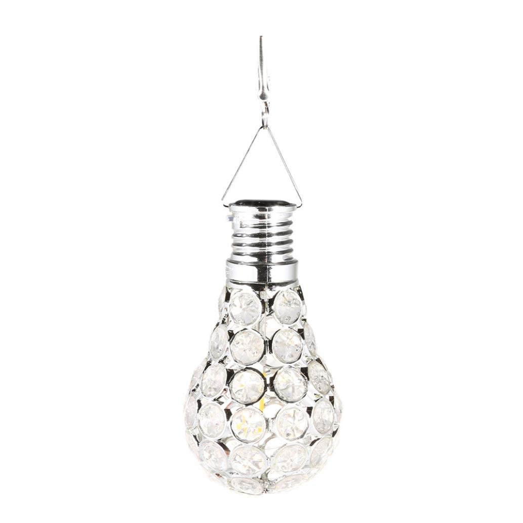 LiPing Gypsophila LED Waterproof Solar Rotatable Outdoor Garden Camping Hanging String Light Warm White- Soothing DécorationElegant Rope Light Suitable for Christmas, Weddings. (A)