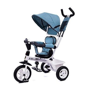 Carritos con capazo Triciclo para niños Bicicleta para bebés Cochecito de bebé de 1 a 5 años El Asiento se Puede Girar (Color : Blue): Amazon.es: Hogar