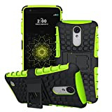LG Aristo Case, LG LV3 Case, LG Phoenix 3 Case,LG Fortune Case, [Built-in Kickstand] [Dual Layer] [Shock Proof] [Scratch/Dust Proof] (LG K8 2017 Hybrid Full-body case) (Greenyellow)