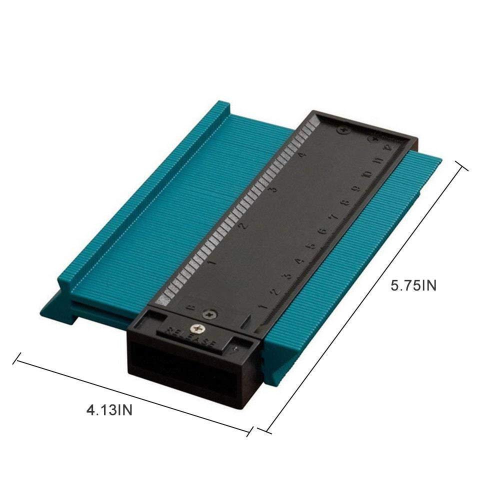 Regla irregular herramienta de medici/ón manual de bricolaje perfil de pl/ástico perfilador copiadora herramienta de marcado de madera laminado azulejo regla de medici/ón