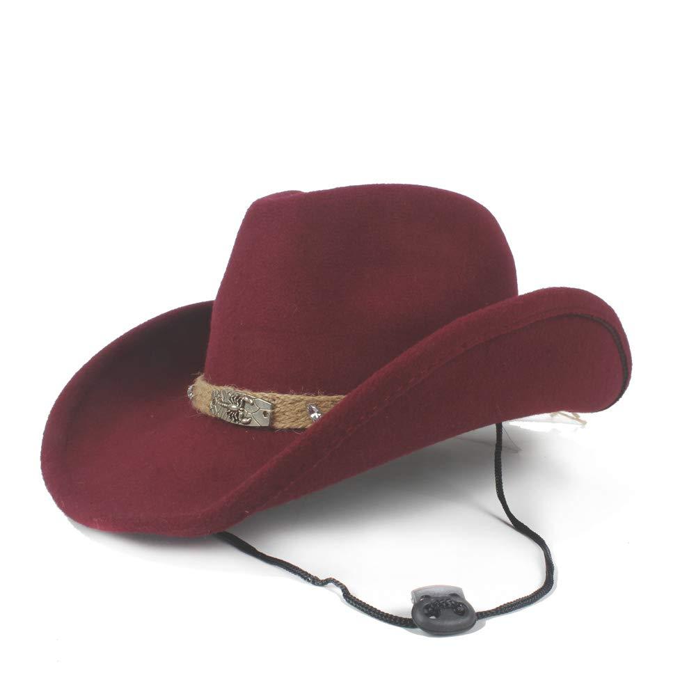Fashion Womens Mens Wool Hollow Western Cowboy Hat Gentleman Rolled Edge Hat Jazz Cap Creative