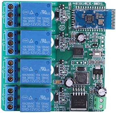 Amazon com: Bewinner 12V 4 Channels Bluetooth Relay Switch