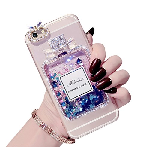 Dreams Mall(TM)Apple iPhone 6/6s 4.7 inch,Fashion Perfume Bottle Shape with Blinging Diamonds Back Case Cover Shell Coque - Shopping Columbus Malls