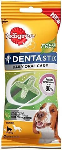 Pedigree Dentastix for Medium Dogs – Fresh (7 per Pack – 180g) – Pack of 2 – Dogs Corner