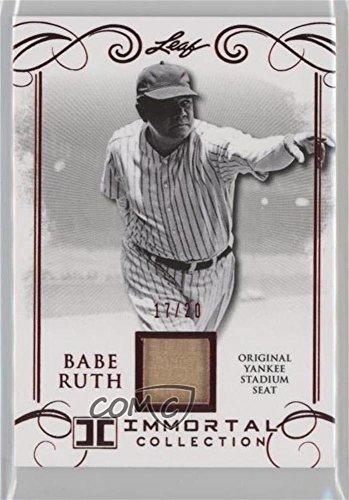 Babe Ruth #/20 (Baseball Card) 2017 Leaf Babe Ruth Immortal Collection - Yankee Stadium Seat - Red Spectrum [Memorabilia] #YS-24