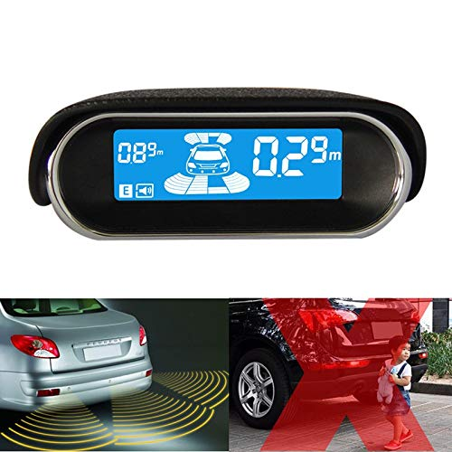 TOOGOO 12V Parking Radar Syst/èMe Num/éRique LED Automatique du Capteur De Stationnement avec 8 Avant Arri/èRe des Capteurs De Surveillance Autoreverse De Secours Kit Radar
