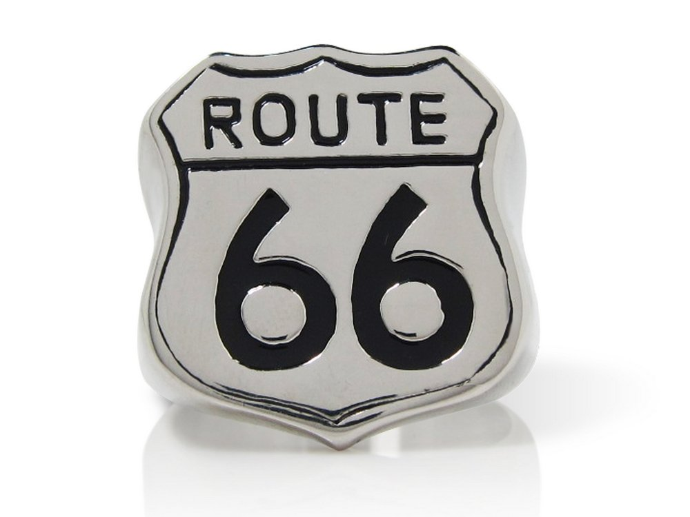 The Biker Metal 316L Stainless Steel Classic Route 66 Ring for Harley Rider Motor Biker TR-138 (12)