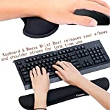 Gimars Memory Foam Non Slip Keyboard Wrist Rest Pad and Mouse Wrist Rest Support For Office, Computer, Laptop, & Mac - Durable & Comfortable & Lightweight For Easy Typing & Pain Relief