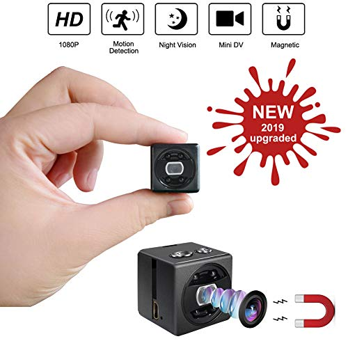 Mini Spy Hidden Camera cop cam – HD 1080P Portable Small Nanny Cam Surveillance Magnetic Security Camera with Night Vision/Motion Detection Perfect Indoor/Outdoor Surveillance Camera Home Car Office