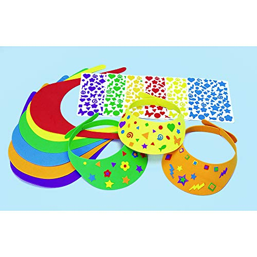 Colorations Visors Fun Foam Visors Craft Kit Kit for 12 (Pack of 12)