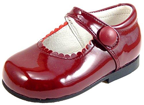 Girls Burgundy Patent Dress Shoes K-5327 - Euro 24 Size 7 (Toddler Burgundy Patent Footwear)