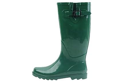 Sunville Brand Women S Rubber Rain Boots 6 Green Buy