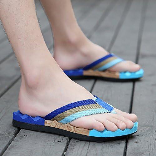 fankou Sommer ist der Männer Tragen Männer Hausschuhe Rutschfeste Sommer Strand Schuhe Fashion Casual Sandalen Herren und 42, E - Blau