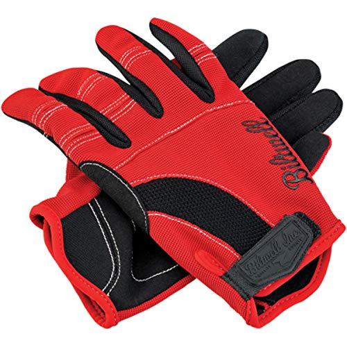 Street Motorcycle Gloves - Black/Red/White/Large ()