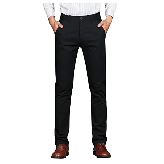 cinnamou Straight Fit Jeans para Hombre Slim-Fit Stretch ...