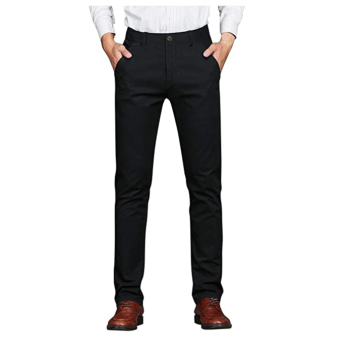 cinnamou Straight Fit Jeans para Hombre Slim-Fit Stretch Jean ...