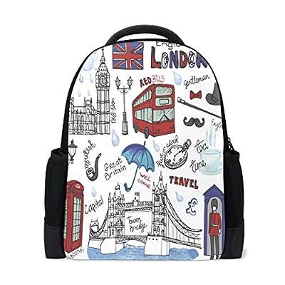 66be75ab24 Ethel Ernest Importance In London Custom Casual Backpack School Bag Travel  Backpack 50%OFF