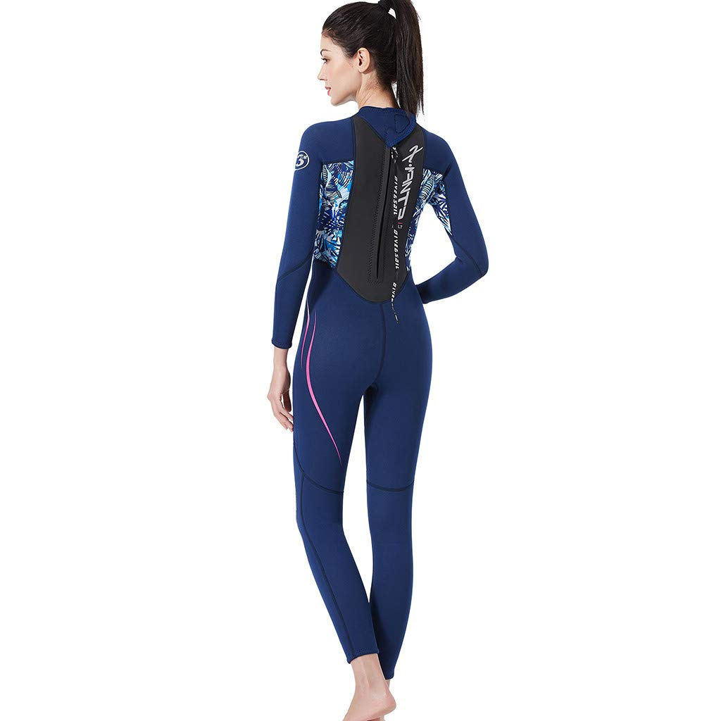 LUXISDE Women's Keep Warm Sunscreen Swimming,Surfing and Snorkeling Diving Coverall Suit Blue by LUXISDE (Image #7)