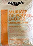 Potassium Chloride UNTREATED (0-0-62) Minimum 99.5% purity! 55LB BAG!