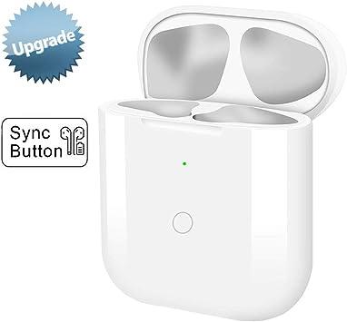 Estuche de Carga Inalámbrica con Botón de Sincronización Compatible con AirPods 1 2 con Emparejamiento Bluetooth (Air Pods no Incluidas), Cubierta Protectora para Auriculares: Amazon.es: Electrónica