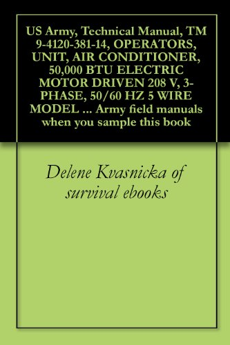 (US Army, Technical Manual, TM 9-4120-381-14, OPERATORS, UNIT, AIR CONDITIONER, 50,000 BTU ELECTRIC MOTOR DRIVEN 208 V, 3-PHASE, 50/60 HZ 5 WIRE MODEL MOAC ... field manuals when you sample this book )
