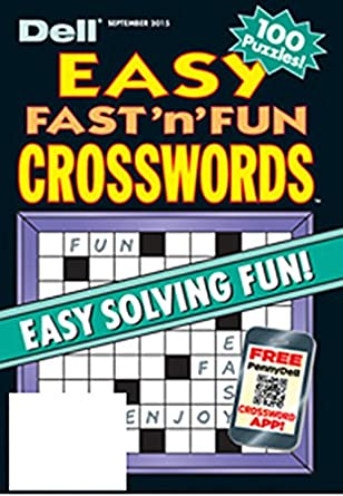 image relating to Star Magazine Crossword Puzzles Printable referred to as Dell Simple Immediate N Enjoyable Crosswords: : Publications
