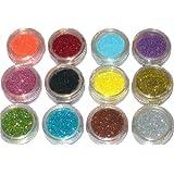 12 Color Nail Art Glitter Sparkle Dust Powder