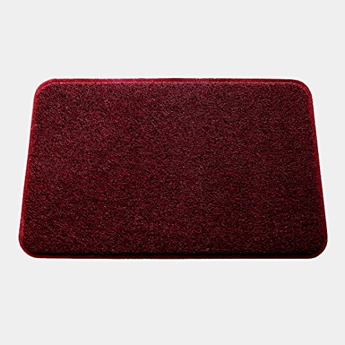 Smartcatcher Mats Color Splash Collection Red Wine Color Cushioned Comfort Non-Slip Mat For Kitchen & Bathroom, Waterproof, Protect Floors From Water Damages, 100% No Odor Emission, 36 x 24 In (Collection Splash)