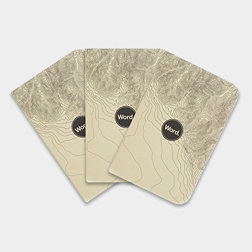 Word Notebooks Ivory Terrain - 3-Pack Small Pocket Notebooks