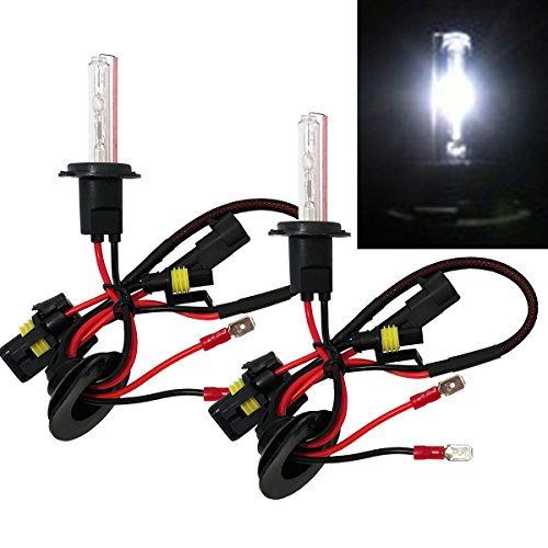 HID Conversion Bulb 6000K White Light (Low Beam Headlight) Replacement (Ballast Require) USA Seller ()
