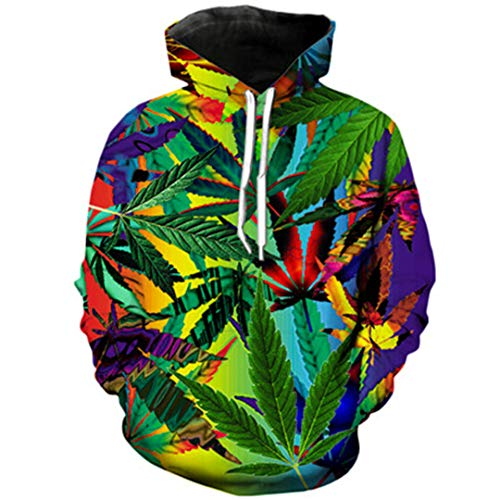 3D Print Weeds Casual Sweatshirts 3 XL ()
