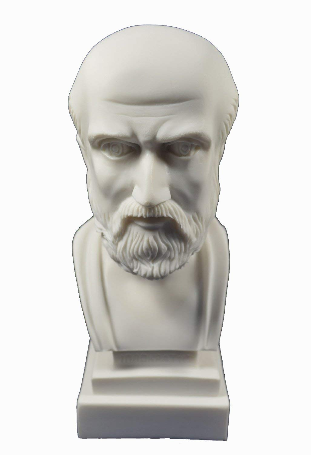 Estia Creations Hippocrates Sculpture Bust Ancient Greek Father of Modern Medicine Statue
