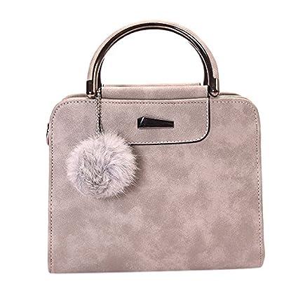 Zantec - Bolso estilo cartera para mujer gris